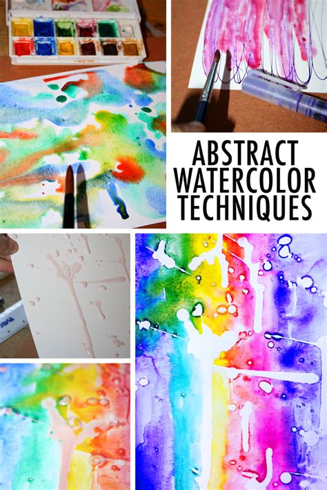 abstract watercolor techniques to try
