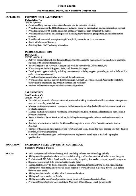 sales intern resume samples velvet jobs