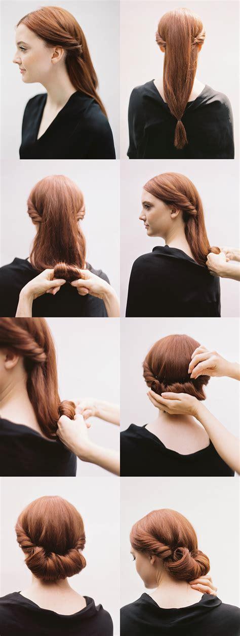 DIY ROLLED CHIGNON HAIR TUTORIAL DIY ONCEWED
