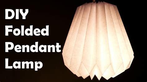 diy make a folded paper pendant lamp shade youtube