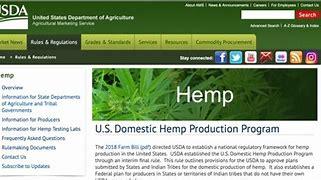 Image result for us domestic hemp production program