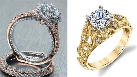 latest best gold diamond ring designs for female