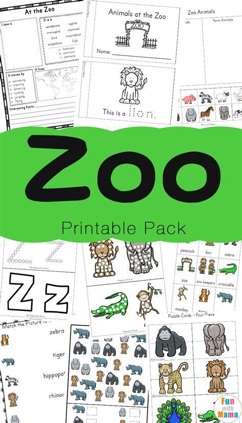 zoo animal activities for preschoolers kindergarteners