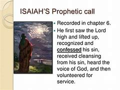 Image result for Isiaiah Ch. 6 God's calling