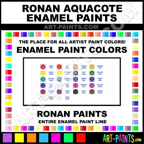 ronan aquacote enamel paint colors ronan aquacote paint