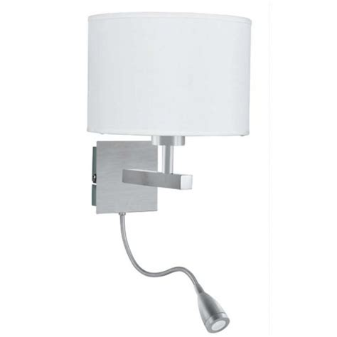 hotel style bedroom wall light with adjustable led arm in