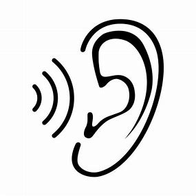 Image result for ear hearing sound clipart