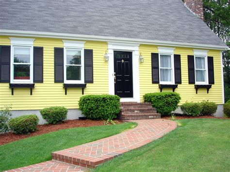 yellow exterior paint scheme in house paint
