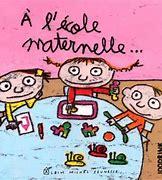 Résultat d'images pour dessin d'enfants jouant sur une cour de maternelle