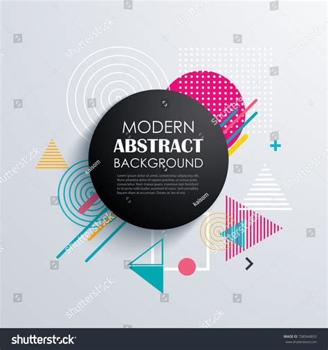 abstract circle geometric pattern design background stock