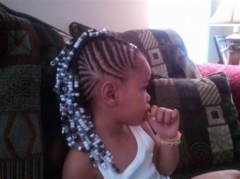 mohawk with beads black kids braids hairstyles little