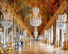 Image result for images hall of mirrors versailles