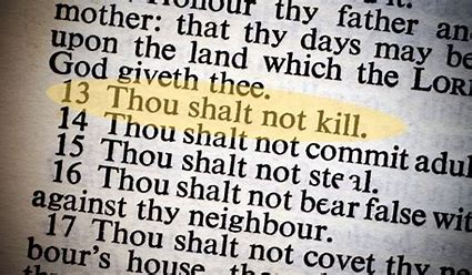 Image result for free pictures of commandment thou shalt not kill
