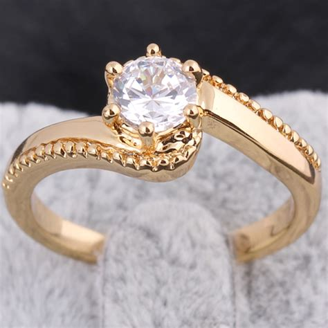 new fashion classic s design wedding ring studded cz