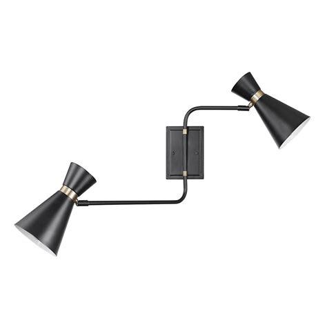 globe electric belmont light matte black swing arm wall