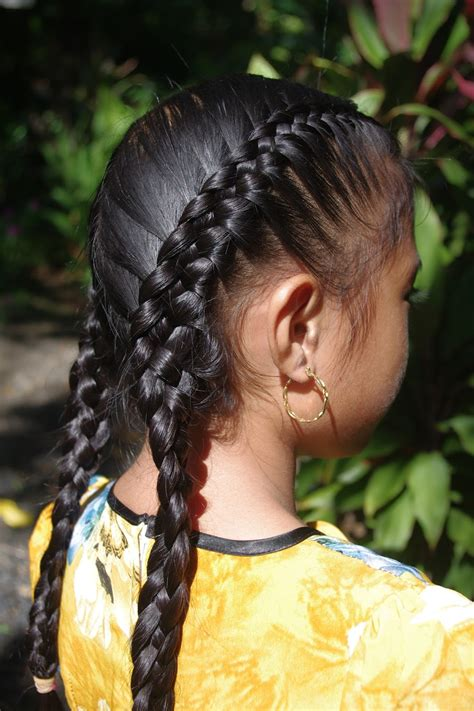 braids hairstyles for super long hair micronesian girl
