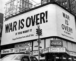 Image result for john and yoko war is over