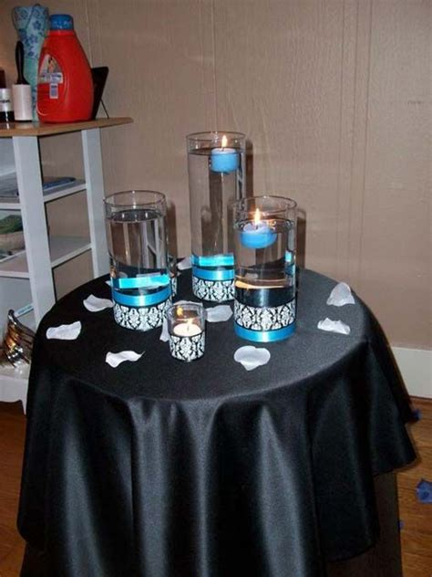 decorations tips wedding black blue diy reception white