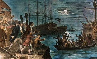 Image result for images boston tea party