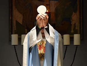 Image result for images priest at the consecration of the mass