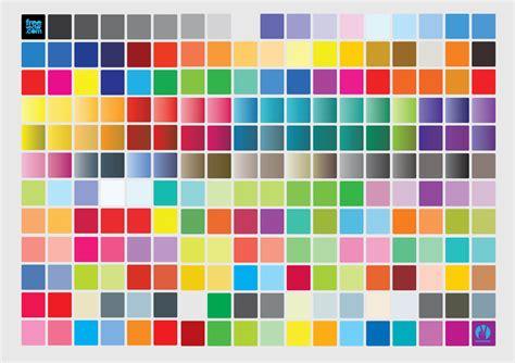 color chart vector art graphics freevector com