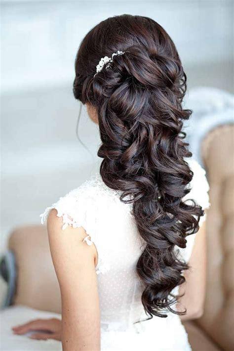 best wedding hairstyles for long hair romantic