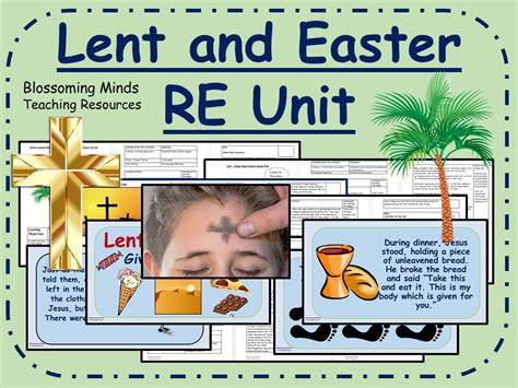 lent and easter re unit ks by blossomingminds