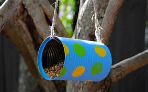 Image result for make a bird feeder can#