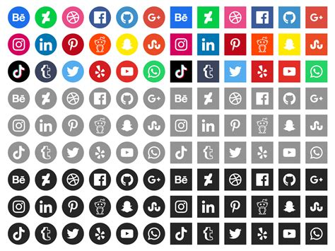 free social media icons download free vectors clipart