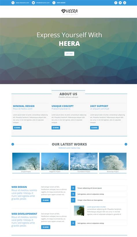 bootstrap website templates free download