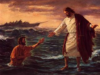 Image result for picture of jesus walking on water