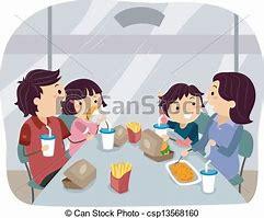 Resultado de imagen de cuatro personas comiendo en una mesa dibujos