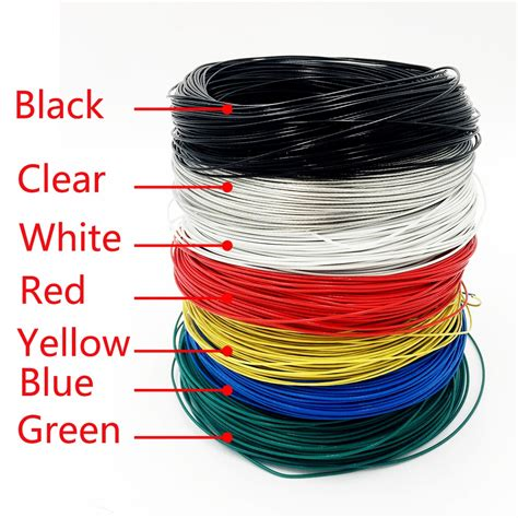 m roll teflon electrical kabel wires insulated colored