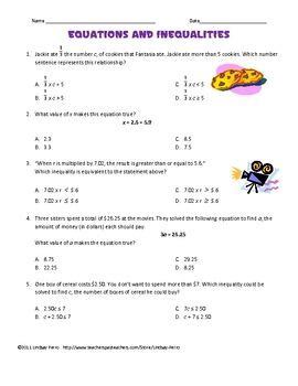 this two page worksheet will assess student understanding