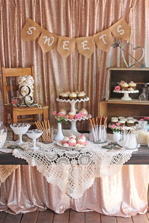 vintage wedding dessert table