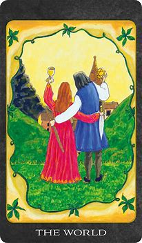 Image result for tarot card the world