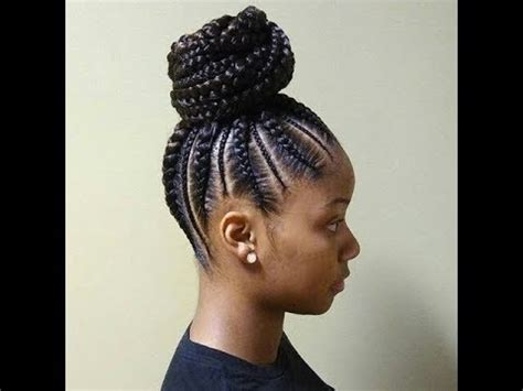 CORNROWS AND PONYTAIL AFRICAN BRAIDS HAIRSTYLES YOUTUBE