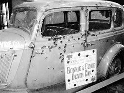 Image result for Bonnie Parker and Clyde Barrow were ambushed and killed