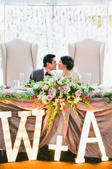 charming diy garden wedding sweetheart table decor head