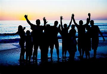 Image result for free pictures of silohet of people on a beach