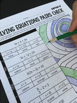 multi step equations activity by lindsay perro tpt
