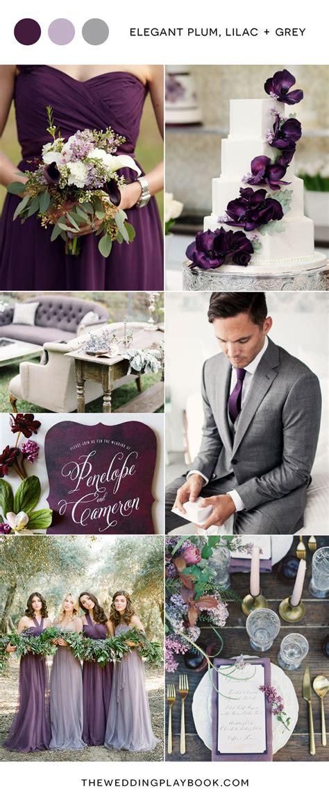 plum lilac and grey wedding inspiration creative