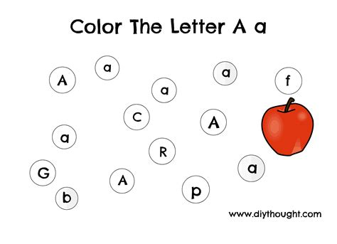 letter a preschool printables diy thought