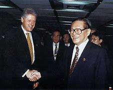 Image result for Clinton and President Jiang Zemin