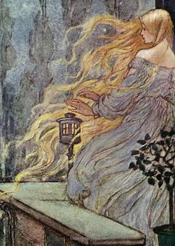 Image result for images rapunzel 19th century illusrration