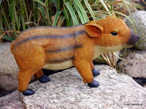 frischling wildschwein baby figur für haus und garten x