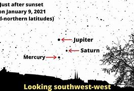 Image result for jupiter-saturn-mercury triple conjunction jan. 10 2021, images