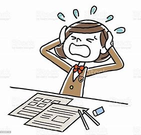 Image result for studying for exams, choosing a career stress cartoon