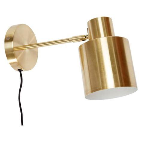 hugo brushed brass finish wall light plug in or hard