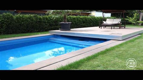 automatische schwimmbad abdeckung pool terrassendeck youtube